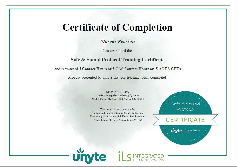 SSP Certified UK Therapist